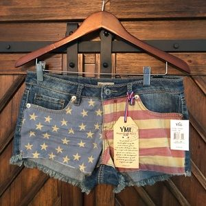 New with Tags YMI Flag Shorts